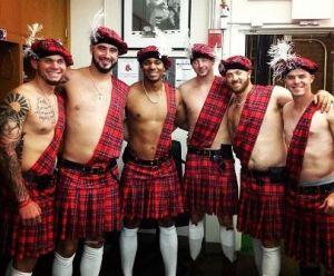 Sox rookies in kilts