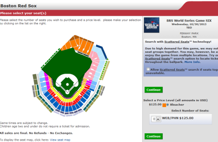 World Series Game 6 ticket map