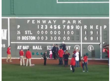 Fenway Scoreboard Final Score 2013 WS Game 6