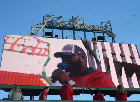 Ortiz speech at Fenway