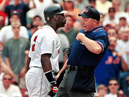 Carl Everett headbutt on umpire