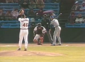 Flanagan first pitch