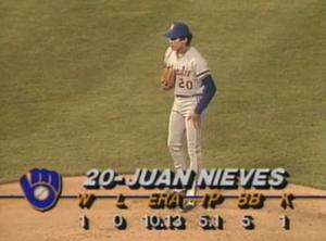 Nieves takes mound