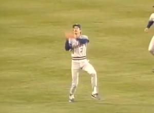 Sveum catches 7th inning popup