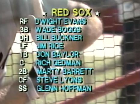 Boston's lineup