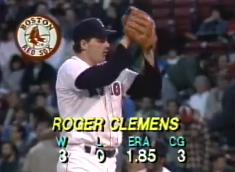 Clemens' April 1986 stats
