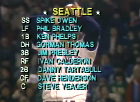 Seattle starting lineup