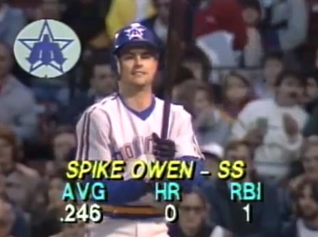 Spike Owen digs in