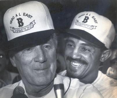 Tony Pena and Joe Morgan 1990